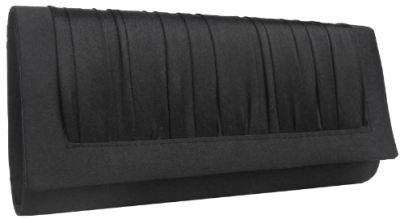 schwarze Clutch Tasche Buffalo