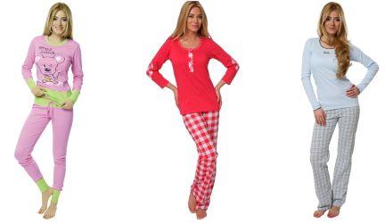 farbige Pyjamas und Schlafanzüge
