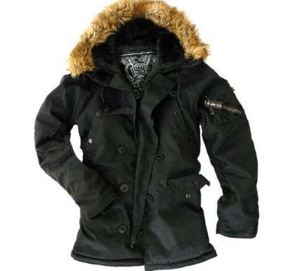 Winterjacke schwarz mit Felle Kapuze